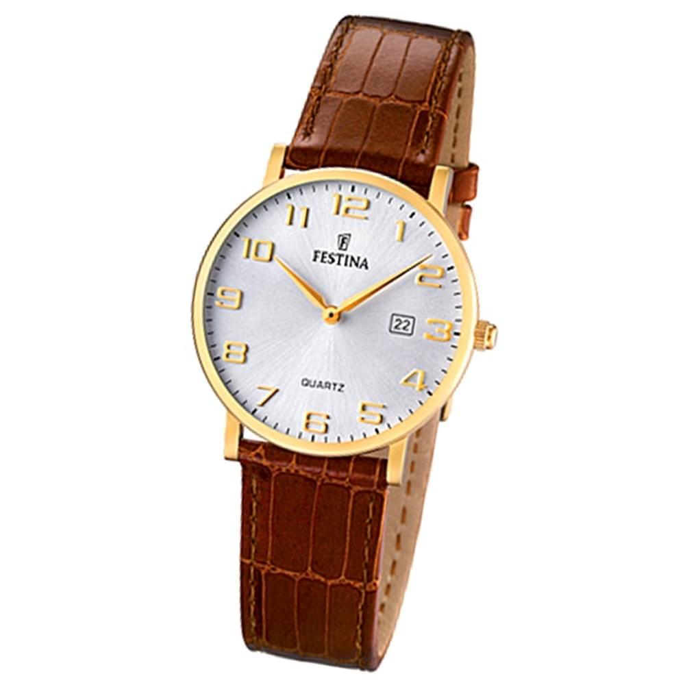 FESTINA Damen-Armbanduhr analog Quarz Leder Klassik Uhr UF16479/2