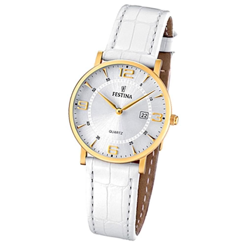 FESTINA Damen-Armbanduhr analog Quarz Leder Klassik Uhr UF16479/3