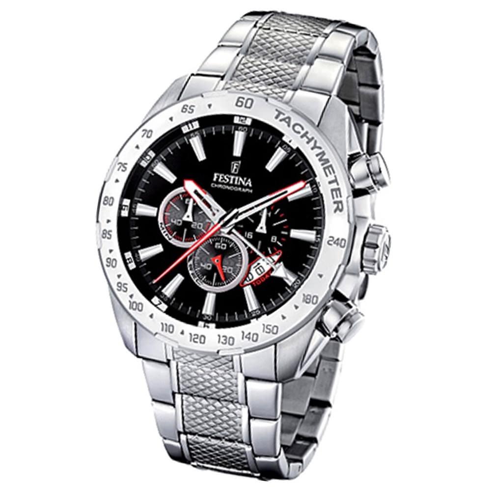 FESTINA Herren-Armbanduhr analog Quarz Edelstahl Chronograph UF16488/5