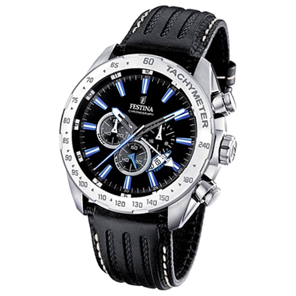 FESTINA Herren-Armbanduhr analog Quarz Leder Sport Chronograph UF16489/3