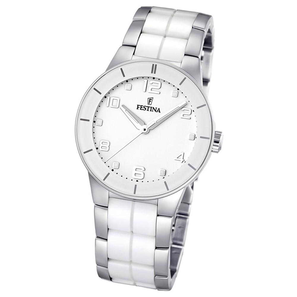 FESTINA Damenuhr weiß Ceramic Uhren Trend Kollektion UF16531/1