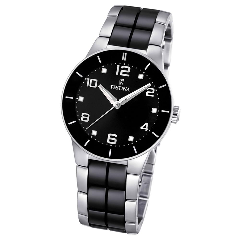 FESTINA Damen-Armbanduhr analog Quarz Edelstahl/Keramik Trend Uhr UF16531/2