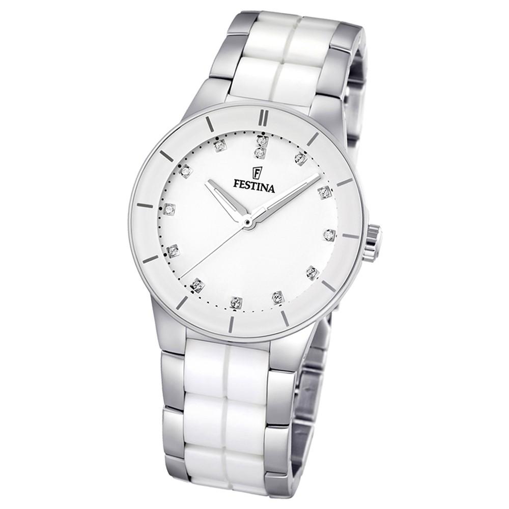 FESTINA Damenuhr weiß Ceramic Uhren Kollektion Trend Uhr UF16531/3