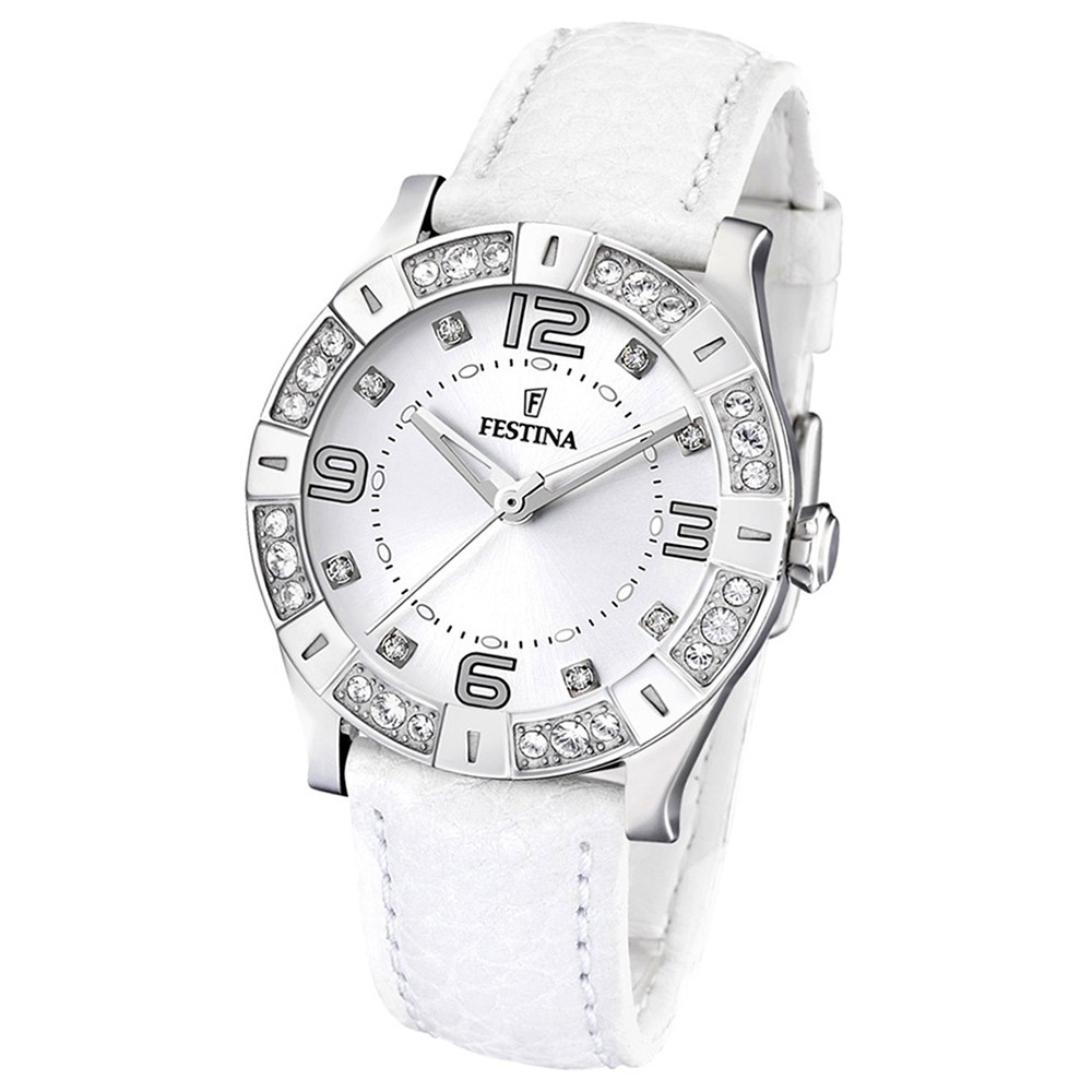 FESTINA Damenuhr Trend weiß Quarzuhr Lady Uhr UF16537/1