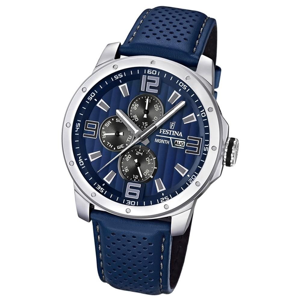 FESTINA Herrenuhr Multifunktion Sport Uhren blau UF16585/3