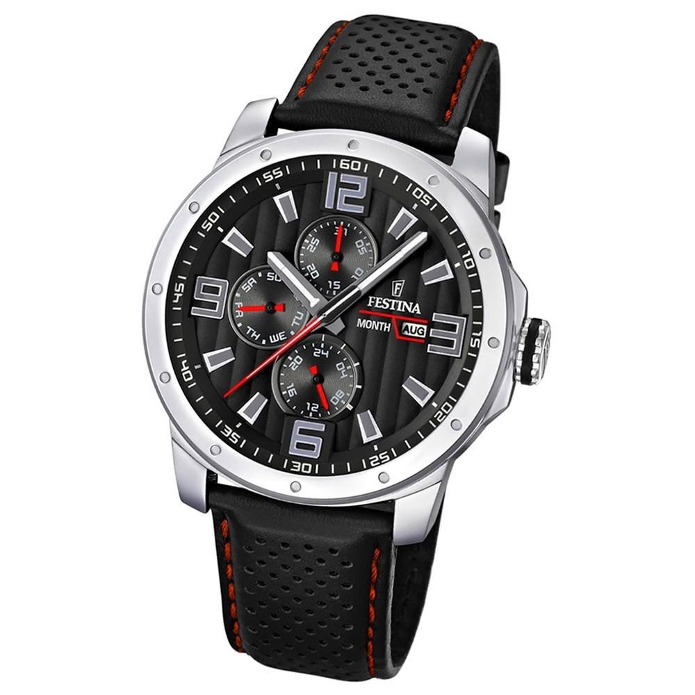 FESTINA Herrenuhr Multifunktion Sport Uhren schwarz UF16585/8
