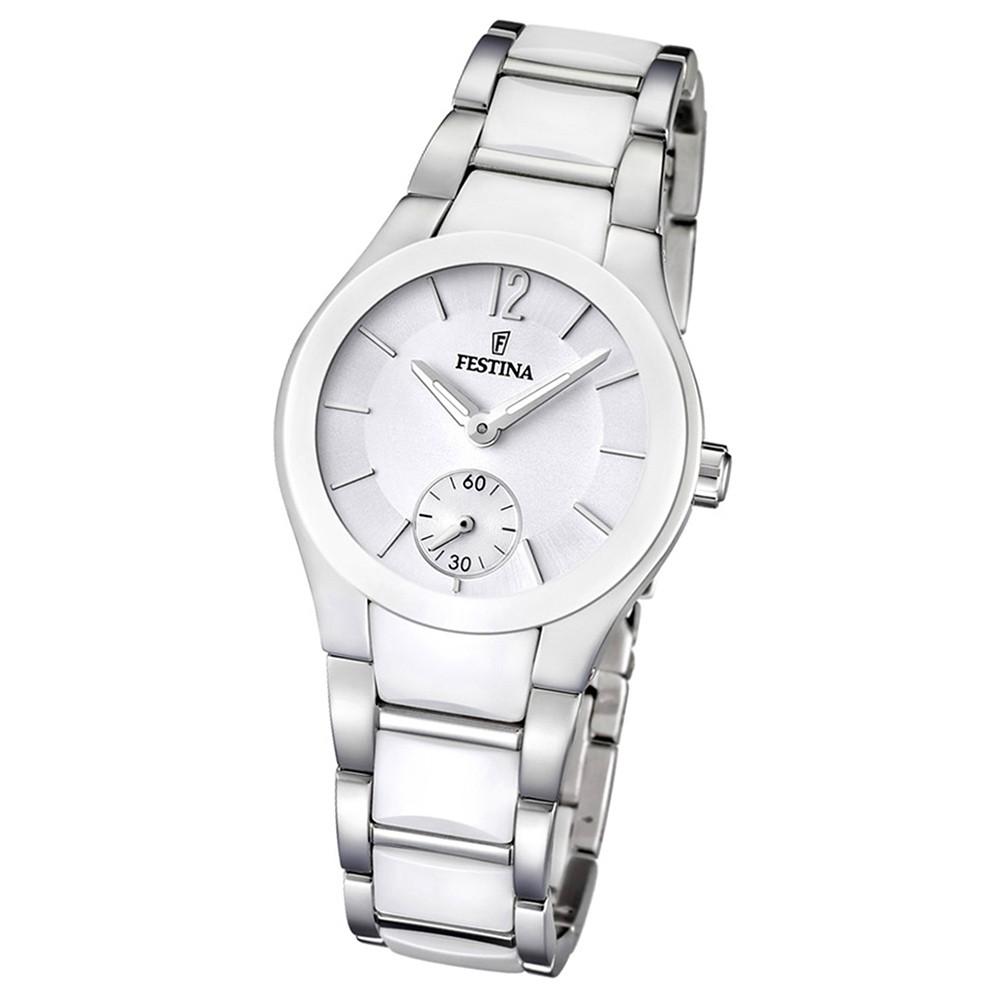 FESTINA Damen-Armbanduhr analog Quarz Edelstahl/Keramik Trend Uhr UF16588/1