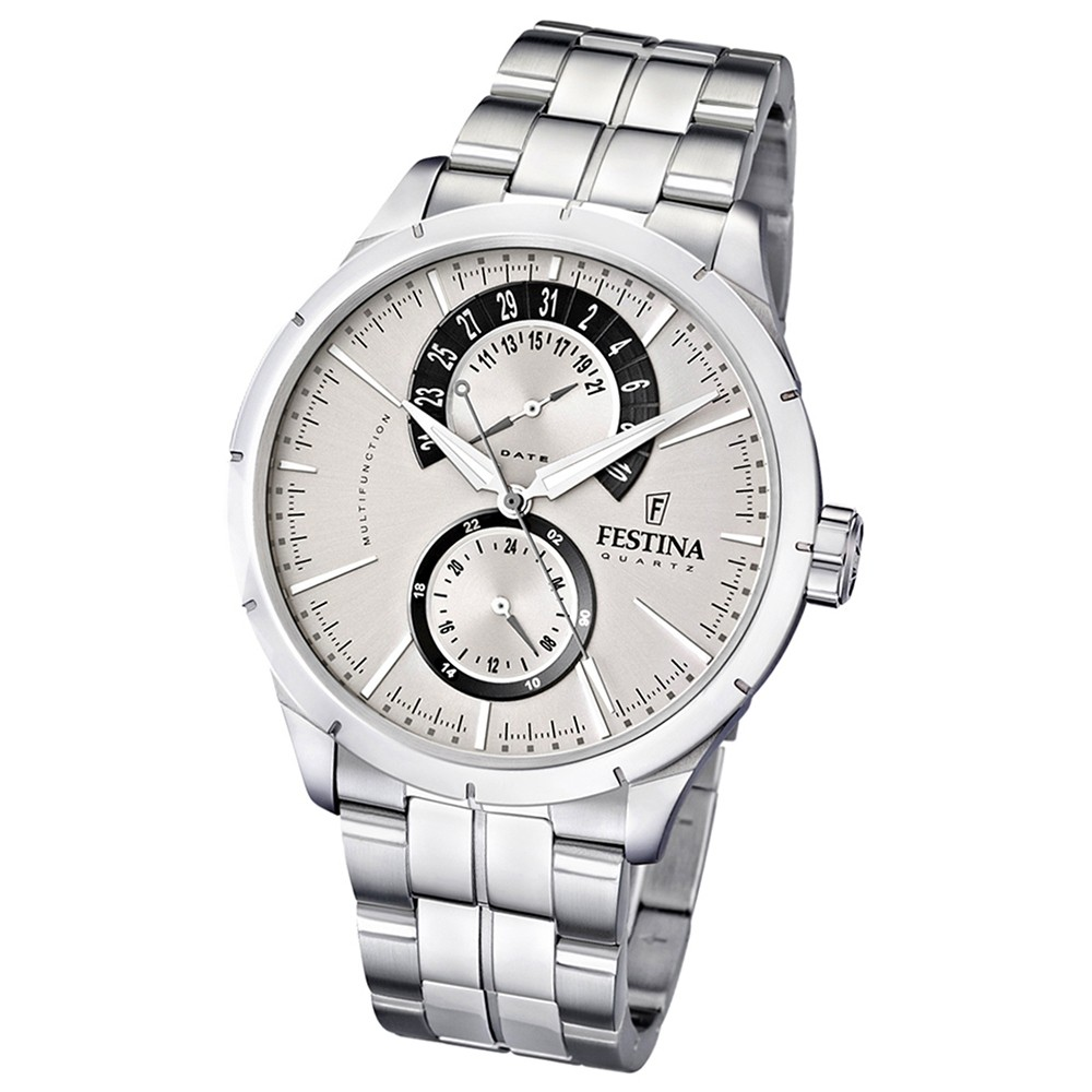 FESTINA Herren-Armbanduhr analog Quarz Edelstahl Multifunktion Uhr UF16632/1