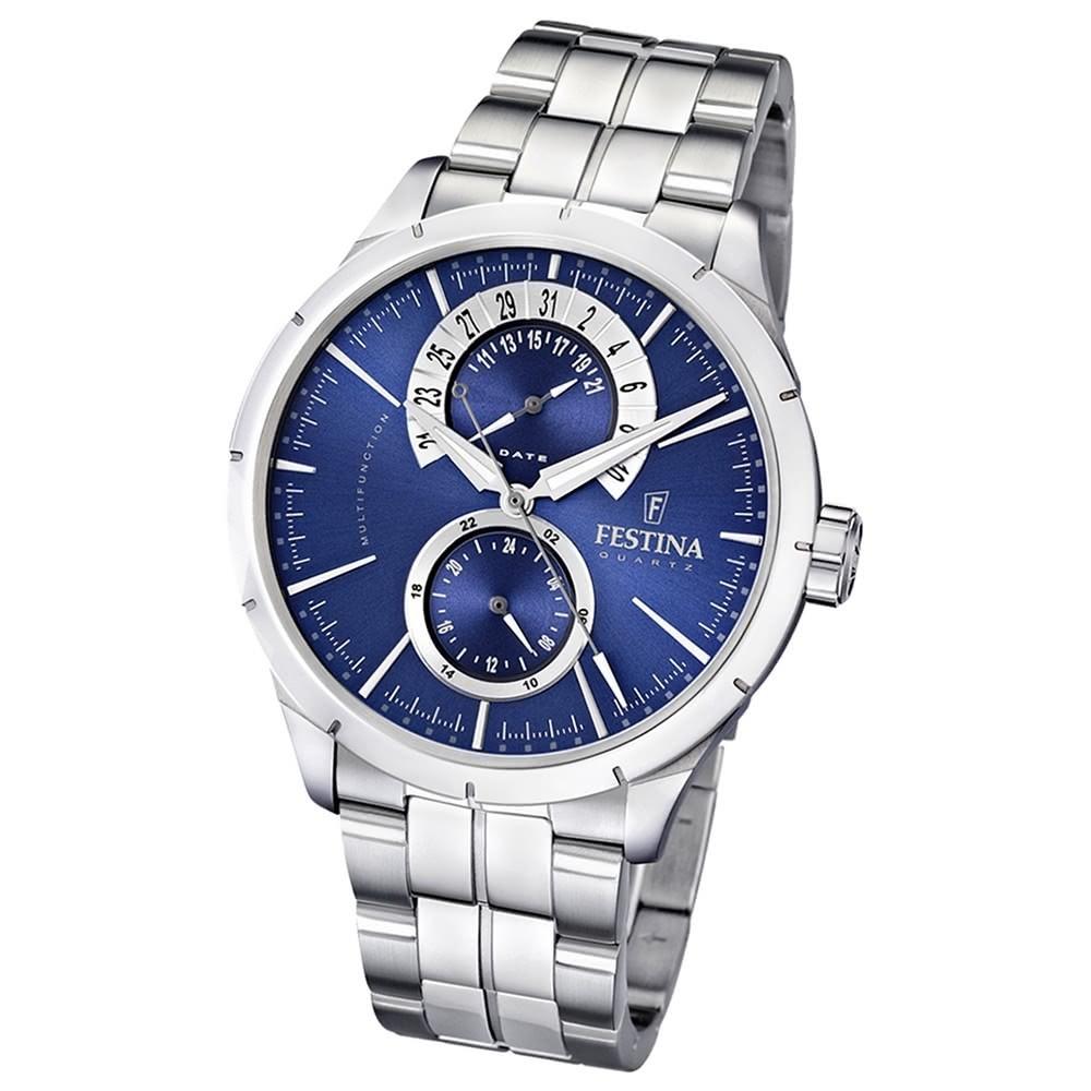 FESTINA Herren-Armbanduhr analog Quarz Edelstahl Multifunktion Uhr UF16632/2