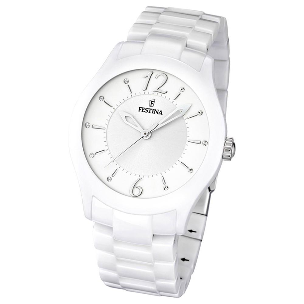 FESTINA Damen/Herren-Armbanduhr analog Quarz Keramik Trend Uhr UF16638/1