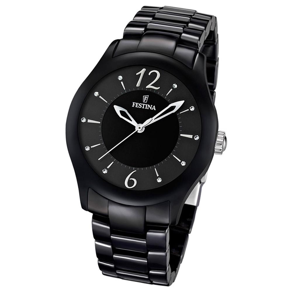 FESTINA Damen/Herren-Armbanduhr analog Quarz Keramik Trend Uhr UF16638/2