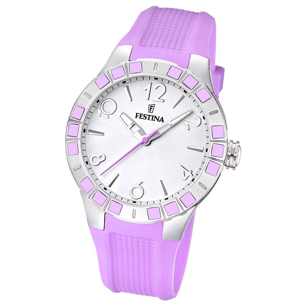 FESTINA Damen-Armbanduhr Dreamtime Analog Quarz PU rosa UF16676/2