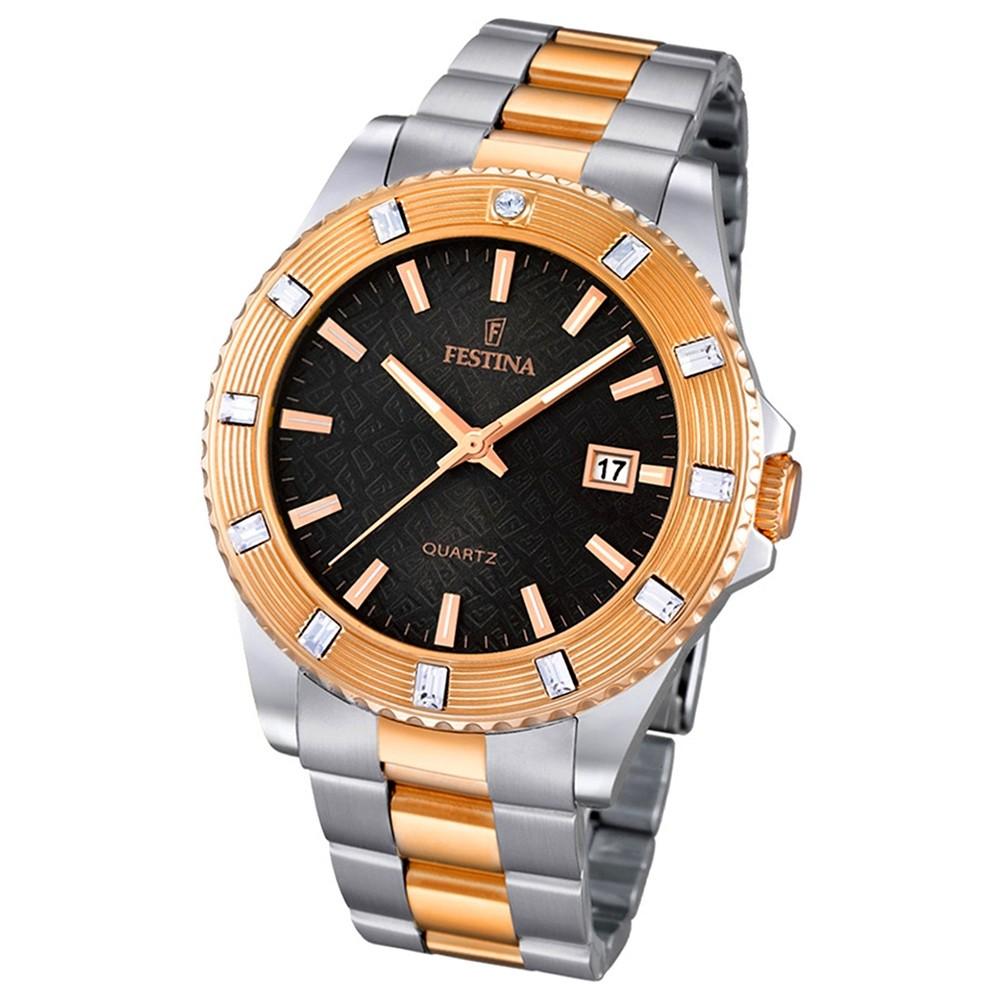 FESTINA Damen-Armbanduhr Boyfriend analog Quarz Edelstahl UF16687/5