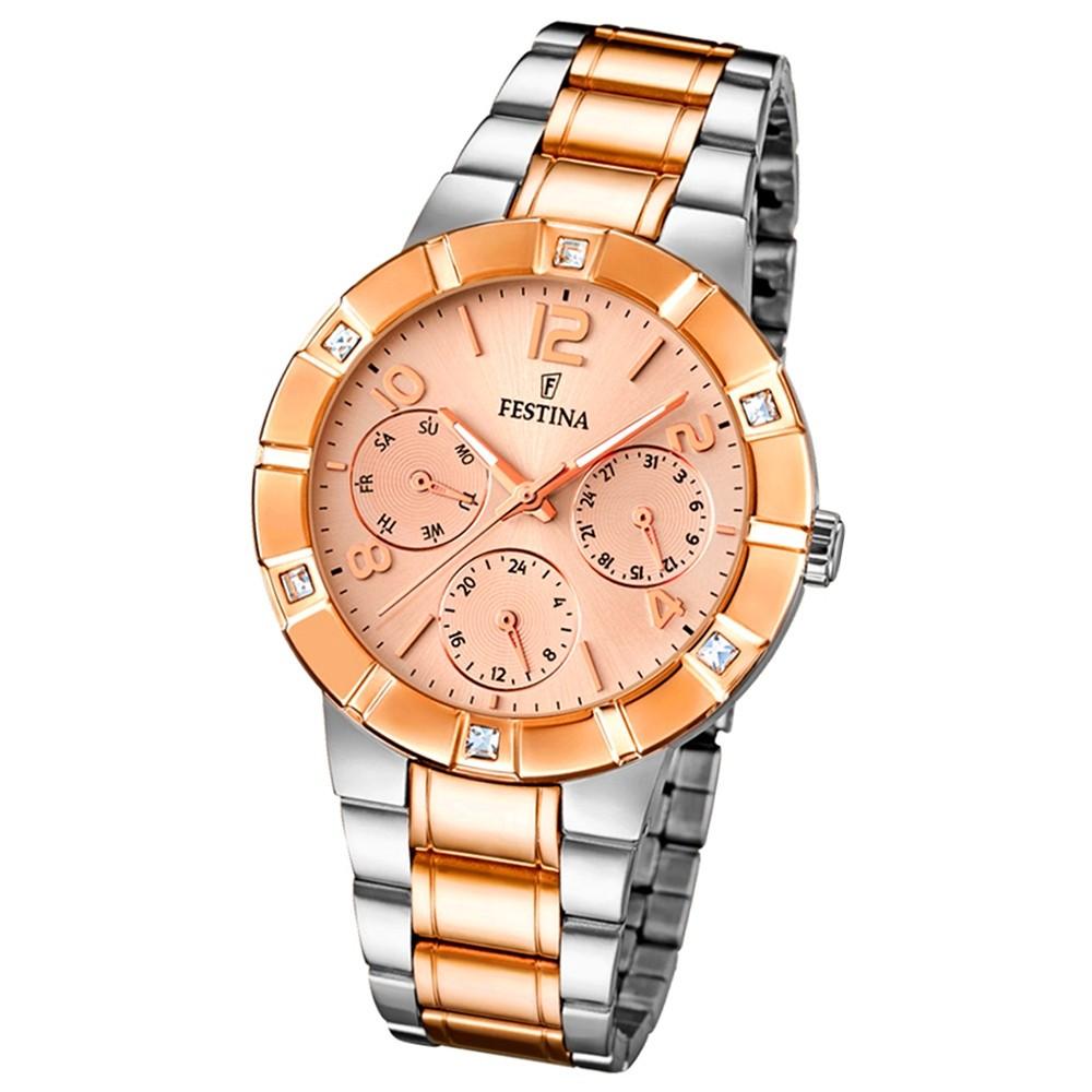 FESTINA Damen-Armbanduhr Mademoiselle analog Quarz Edelstahl UF16707/2