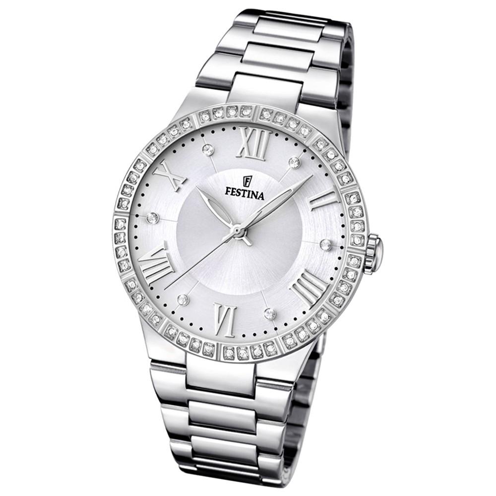 FESTINA Damen-Armbanduhr Mademoiselle analog Quarz Edelstahl UF16719/1