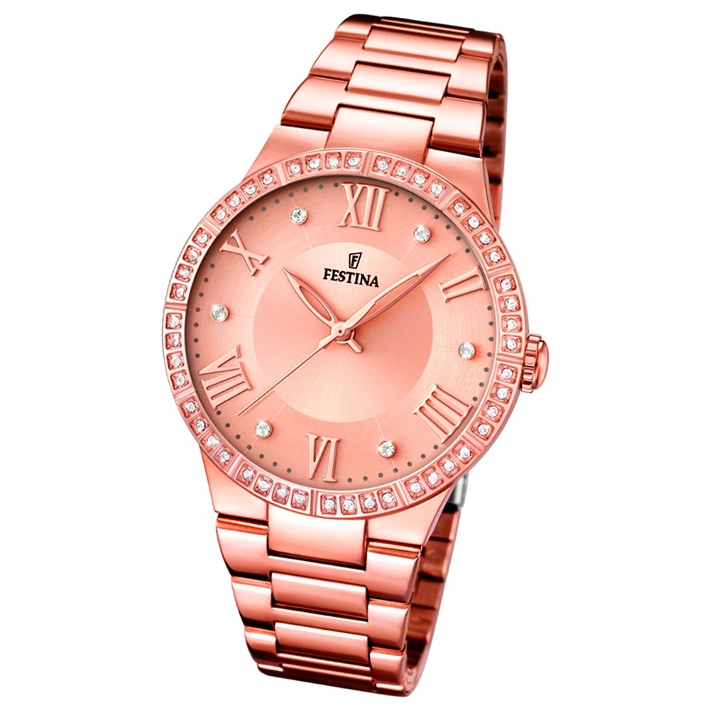 FESTINA Damen-Armbanduhr Mademoiselle analog Quarz Edelstahl UF16721/2