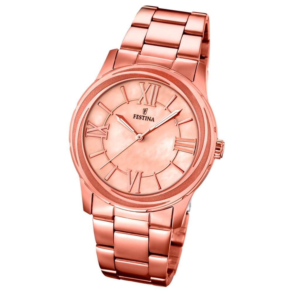 FESTINA Damen-Armbanduhr Mademoiselle analog Quarz Edelstahl UF16725/2