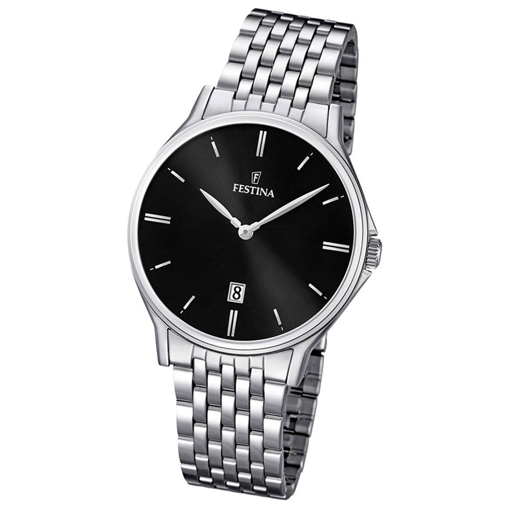 FESTINA Herren-Armbanduhr analog Klassik Quarz Edelstahl UF16744/4