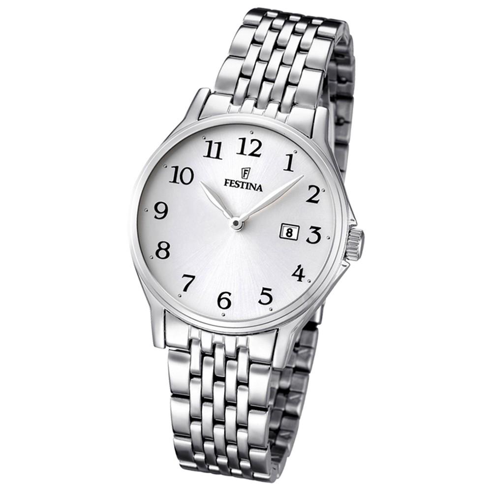 FESTINA Damen/Herren-Armbanduhr Klassik analog Quarz Edelstahl UF16748/1