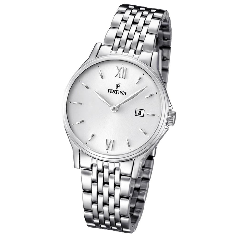 FESTINA Damen/Herren-Armbanduhr Klassik analog Quarz Edelstahl UF16748/2