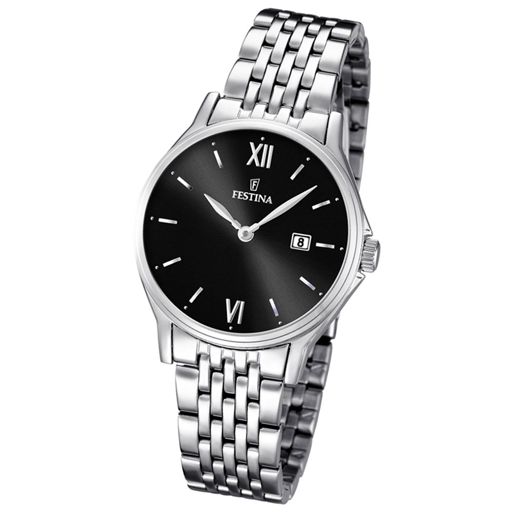 FESTINA Damen/Herren-Armbanduhr Klassik analog Quarz Edelstahl UF16748/4