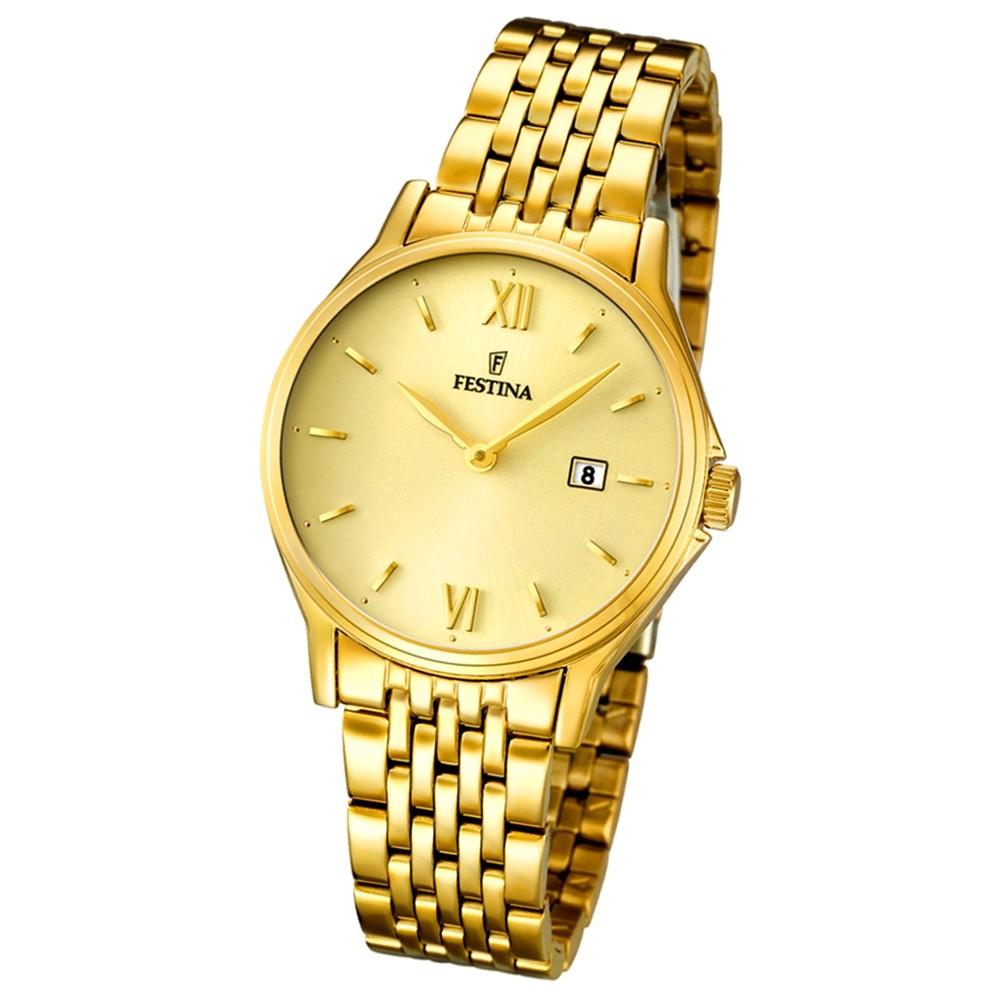 FESTINA Damen/Herren-Armbanduhr Klassik analog Quarz Edelstahl UF16749/3