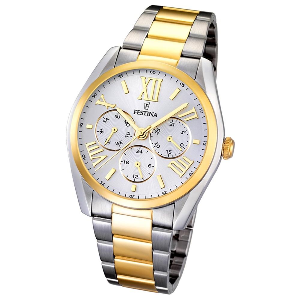 FESTINA Herren-Armbanduhr Klassik Multifunktion analog Quarz Edelstahl UF16751/1