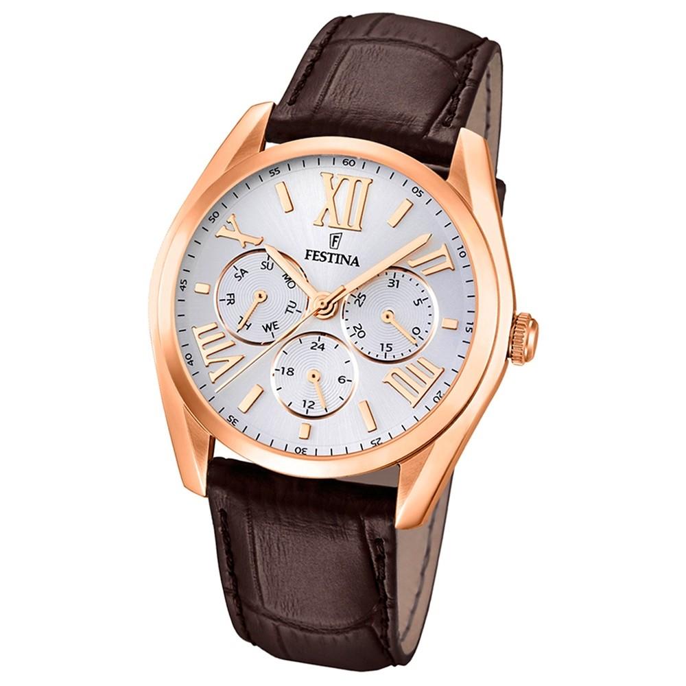 FESTINA Herren-Armbanduhr Klassik Multifunktion analog Quarz Leder UF16754/1
