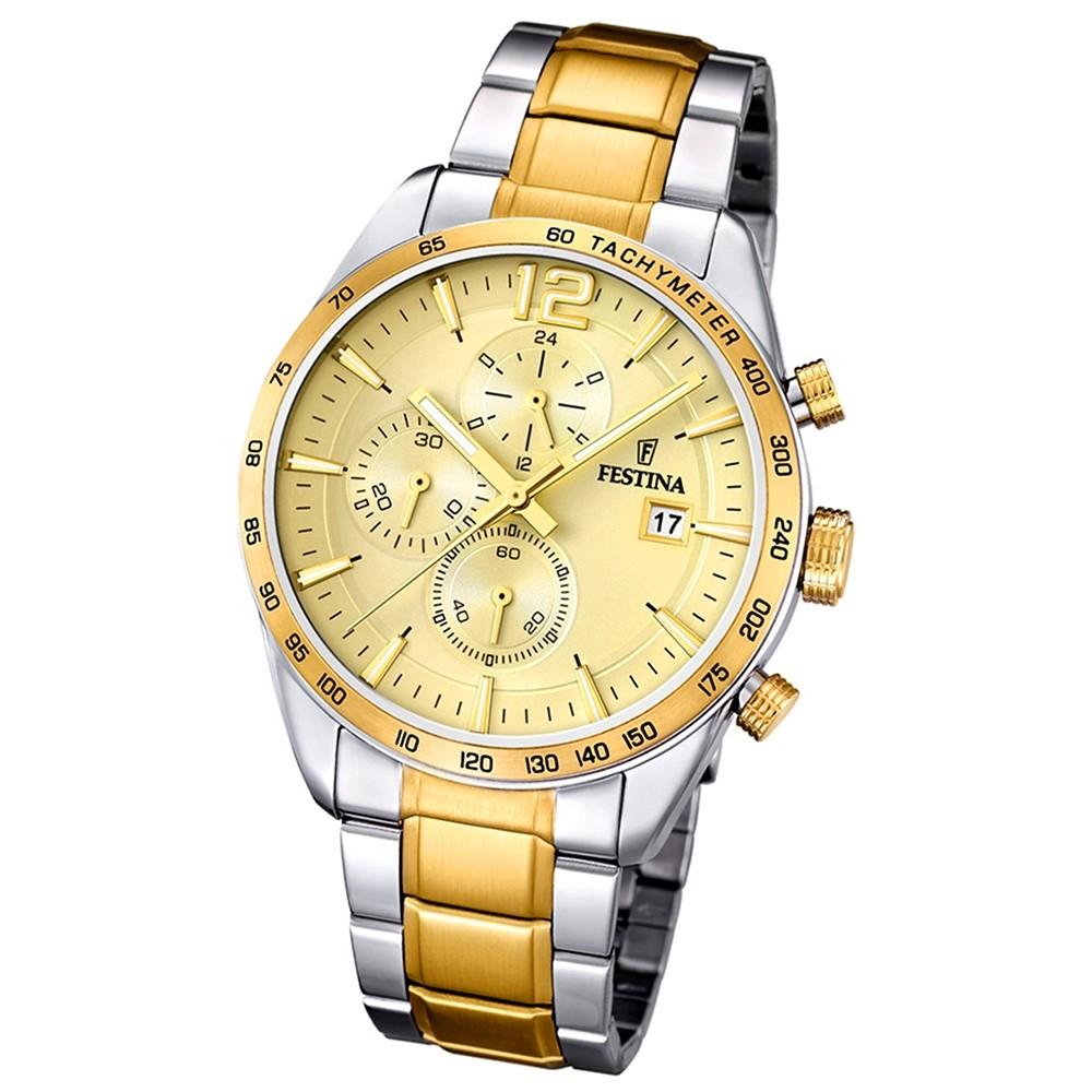 FESTINA Herren-Armbanduhr Sport Chronograph analog Quarz Edelstahl UF16761/1
