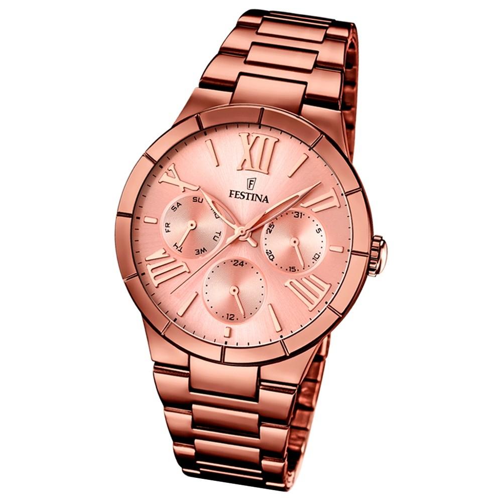 FESTINA Damen-Armbanduhr Mademoiselle analog Edelstahl PVD Bronze UF16798/1