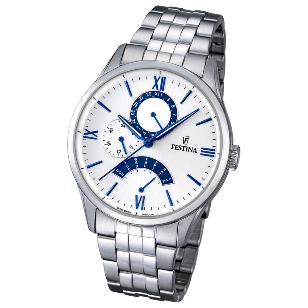 Festina Herren Armband-Uhr F16822/5 Quarz Edelstahl silber UF16822/5