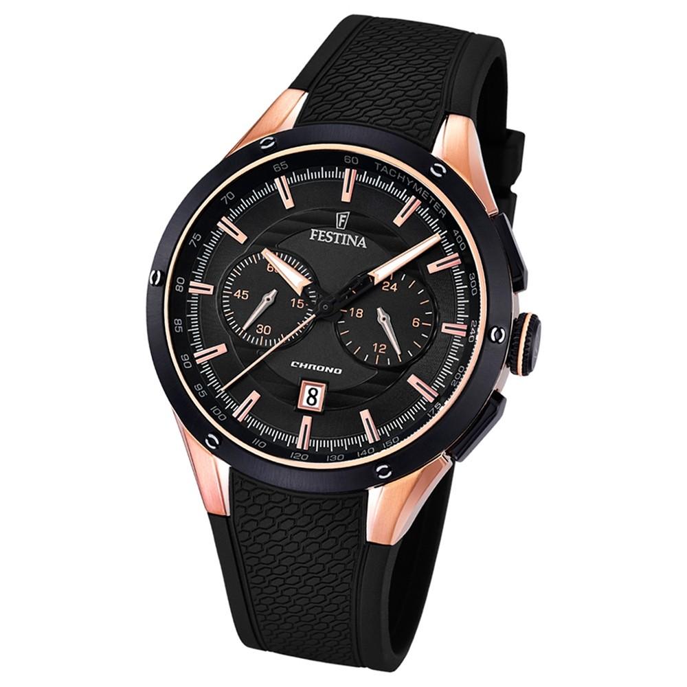 FESTINA Herren-Armbanduhr Sport F16831/2 Quarz PU schwarz UF16831/2