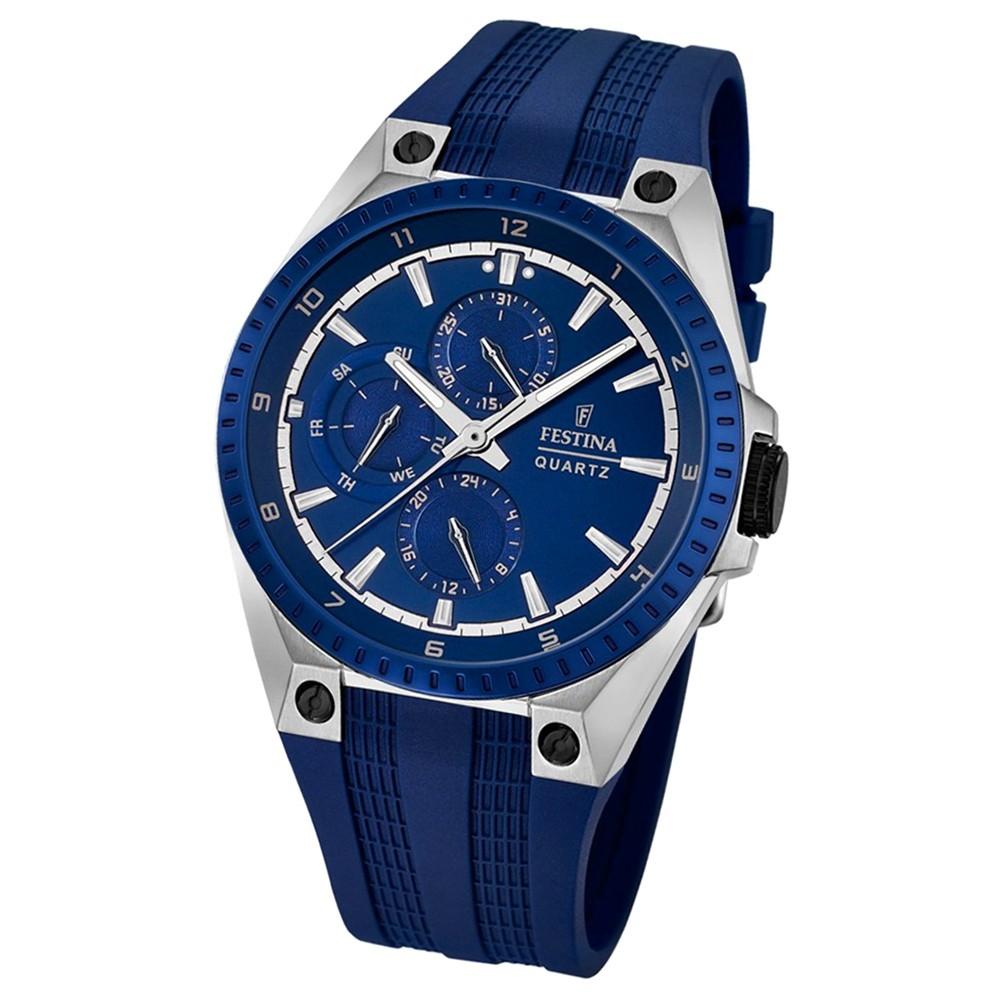 FESTINA Herren-Armbanduhr Sport Multifunktion Analog Quarz PU blau UF16834/2