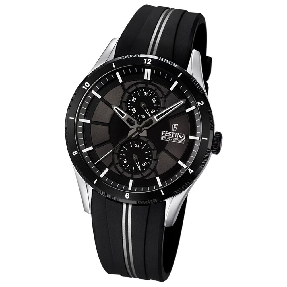 FESTINA Herren-Armbanduhr Sport Analog Quarz PU schwarz, grau UF16841/1