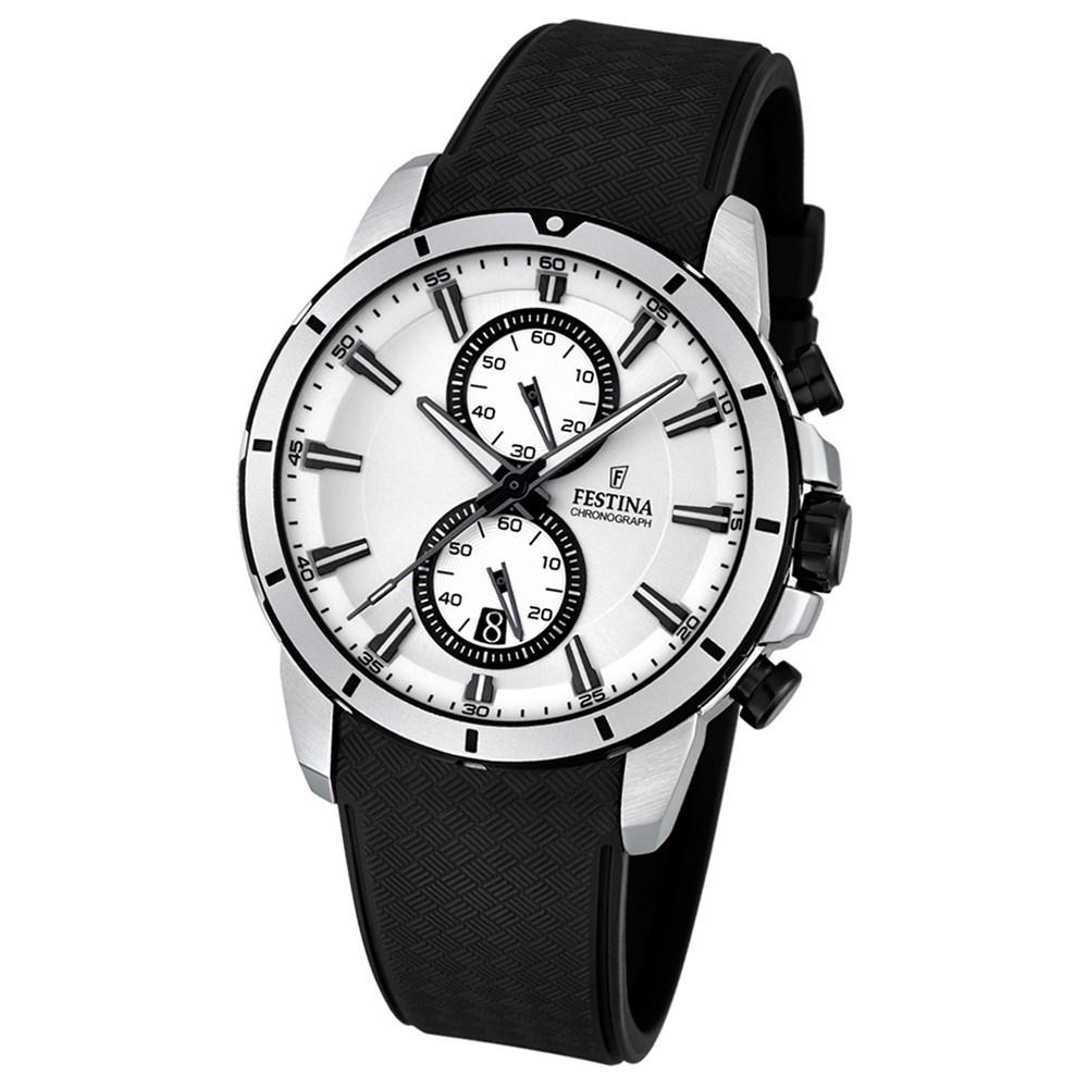 FESTINA Herren-Armbanduhr Chronograph Sport Quarz PU schwarz UF16850/1