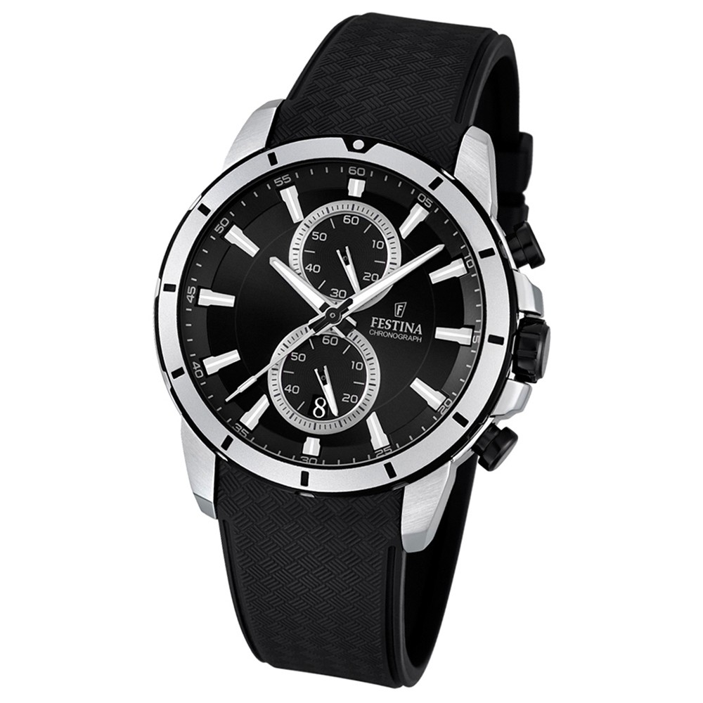 FESTINA Herren-Armbanduhr Chronograph Sport Quarz PU schwarz UF16850/2