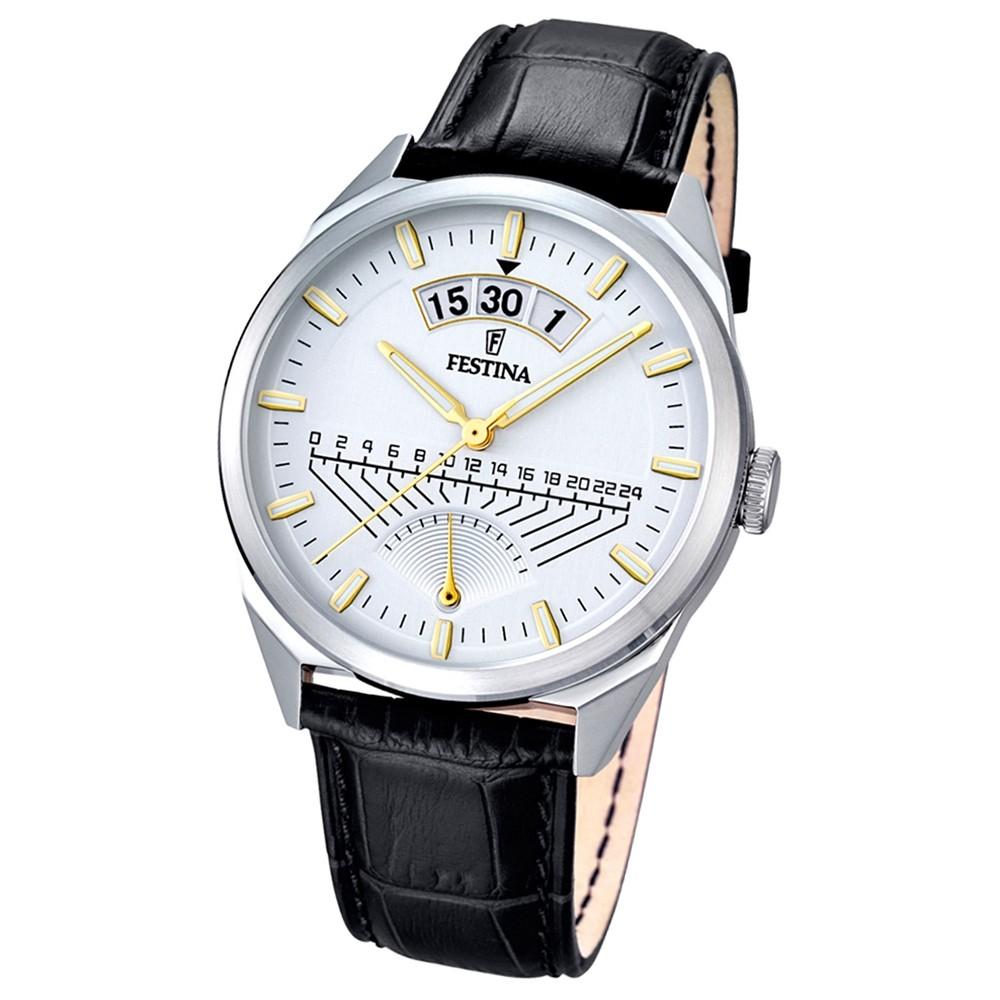 FESTINA Herren-Armbanduhr Retrograde Analog Quarz Leder braun UF16873/2