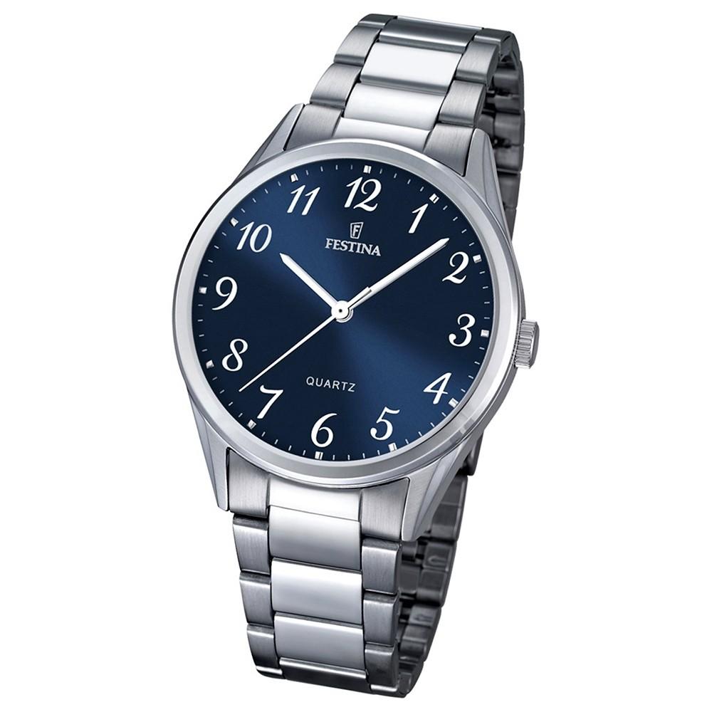 FESTINA Herren-Armbanduhr Analog Quarz Edelstahl silber UF16875/2