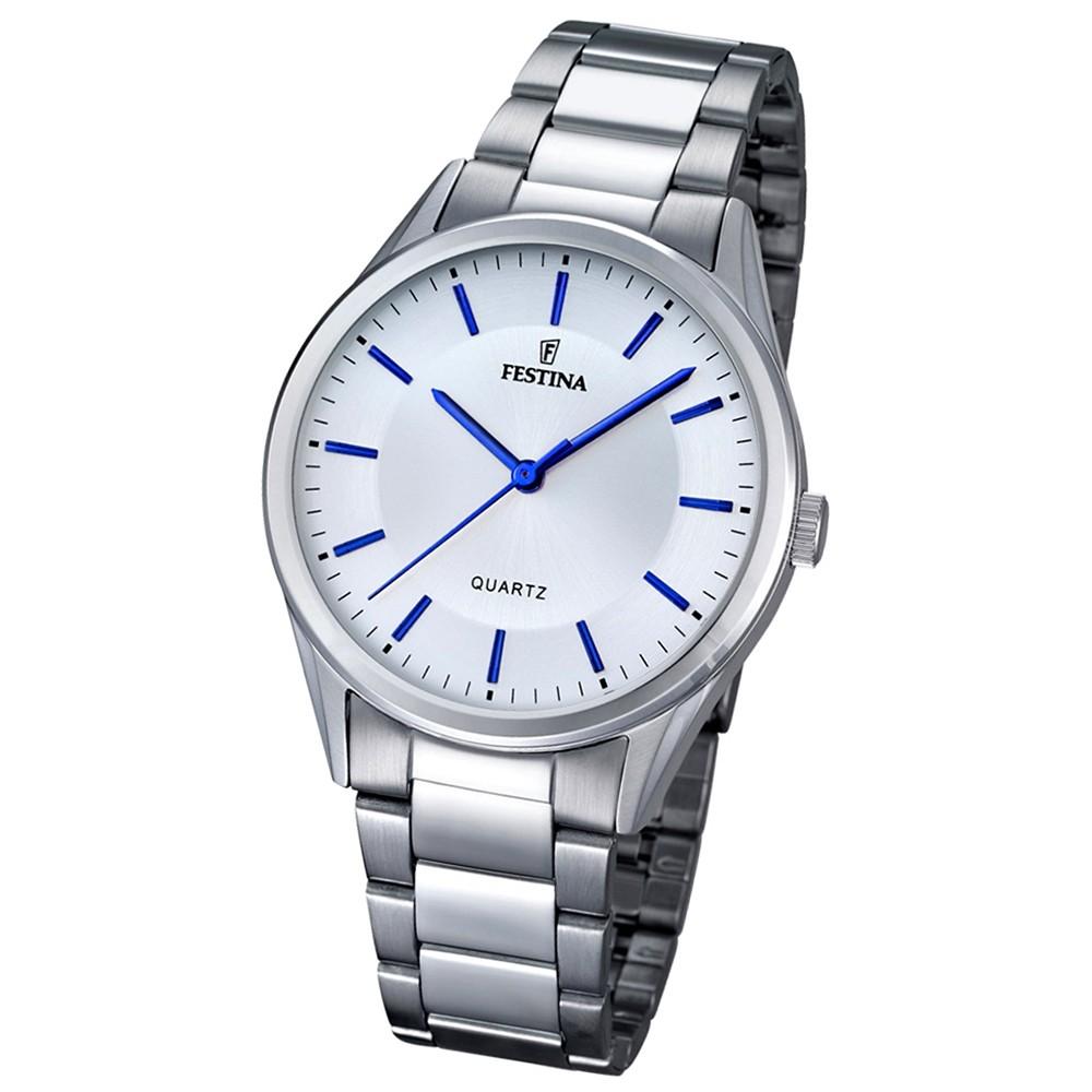 FESTINA Herren-Armbanduhr Stahlband klassisch Quarz Edelstahl silber UF16875/3