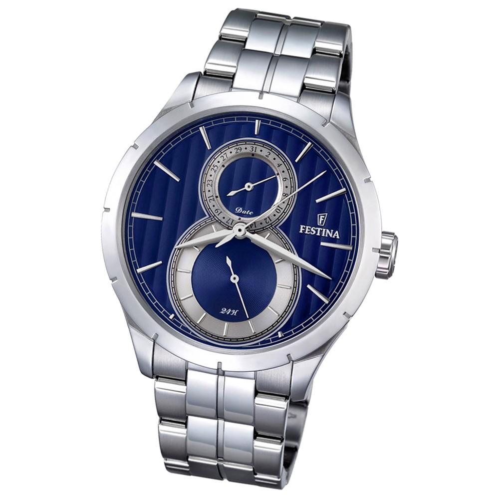 Festina Herren-Uhr blau Journees dAchats analog Quarz Edelstahl UF16891/3