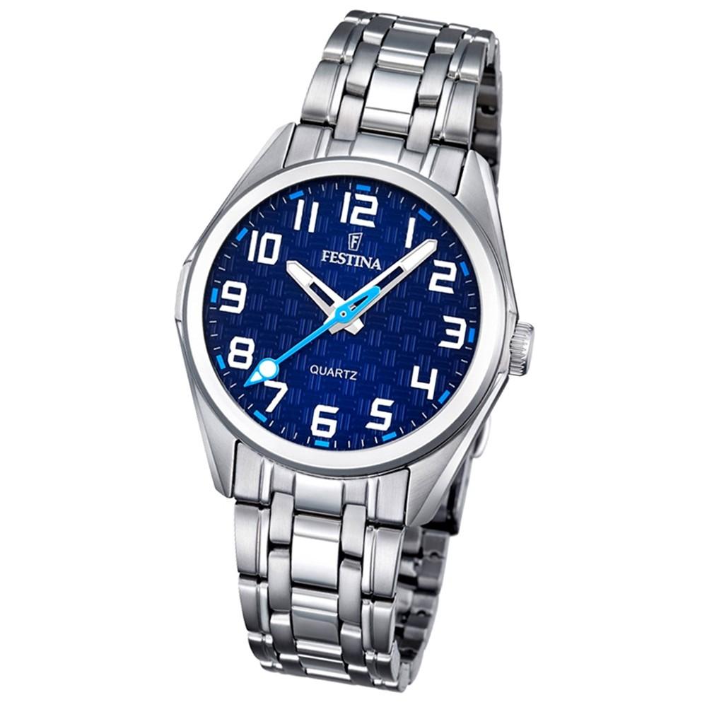 Festina Kinder Jugend-Uhr Junior analog Quarz Edelstahl blau UF16903/2