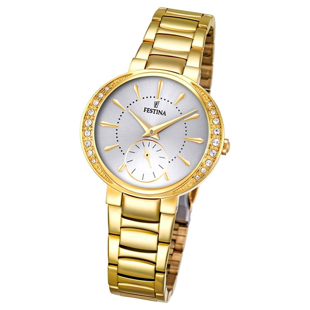 Festina Damen-Armbanduhr Mademoiselle analog Quarz Edelstahl gold UF16910/1