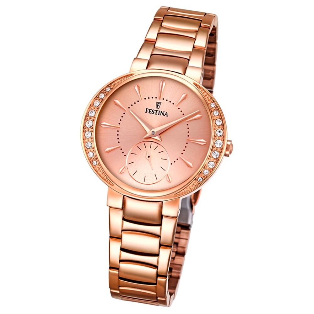 Festina Damen-Armbanduhr Mademoiselle analog Quarz Edelstahl rosegold UF16911/2
