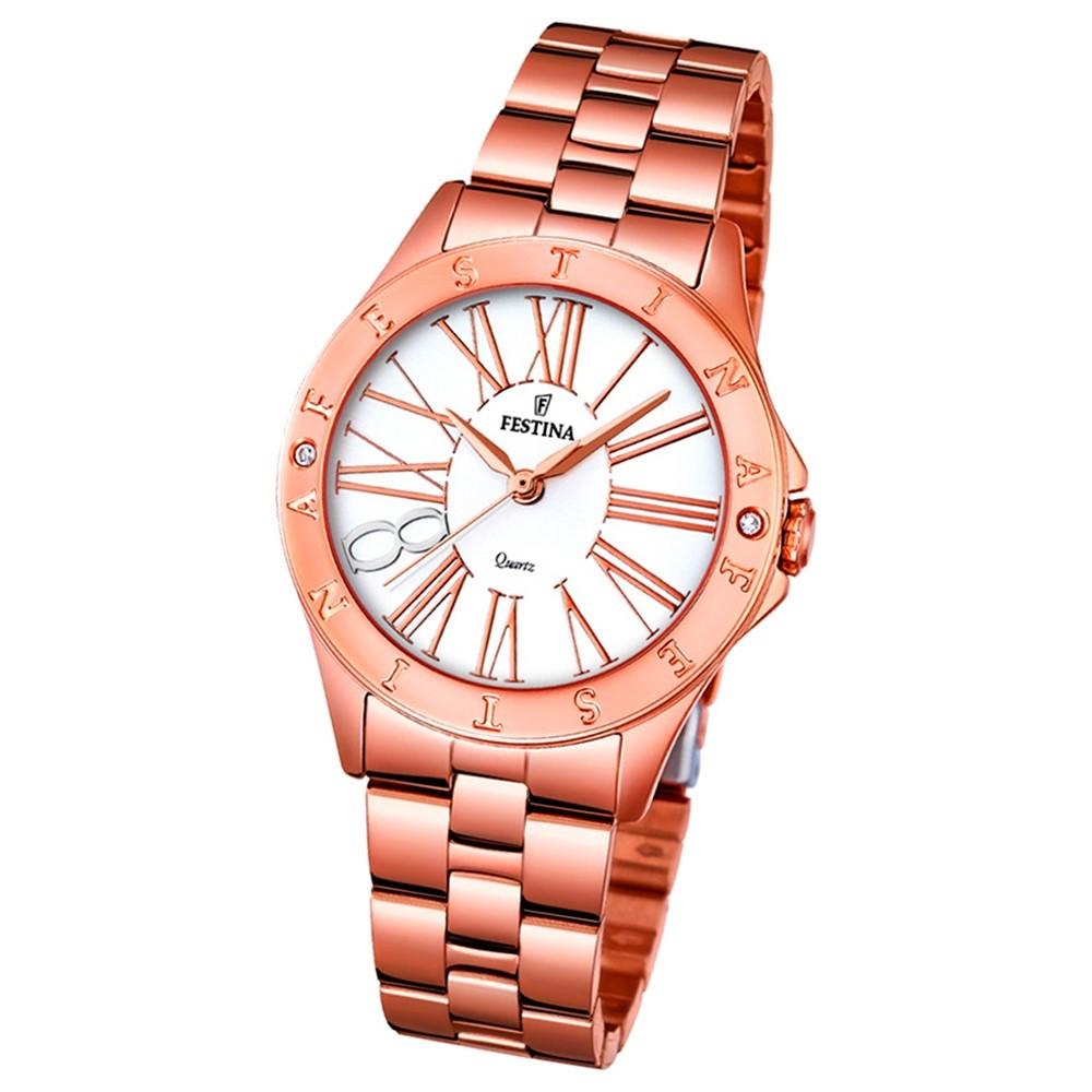 Festina Damen-Uhr rosegold Journees dAchats analog Quarz Edelstahl UF16926/1