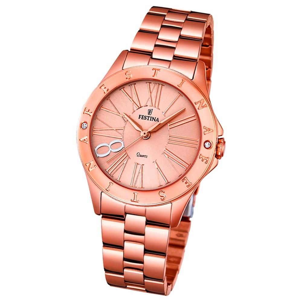 Festina Damen-Uhr rosegold Journees dAchats analog Quarz Edelstahl UF16926/2