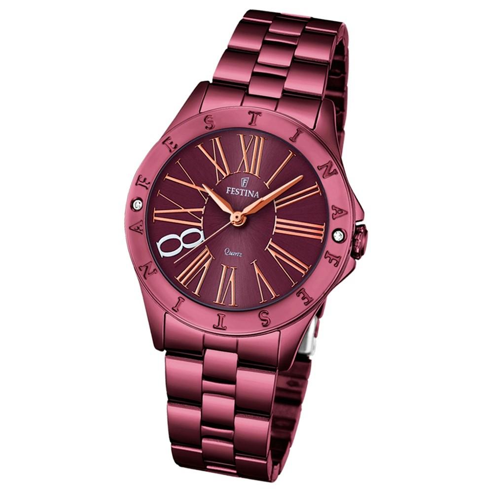 Festina Damen-Armbanduhr Journees dAchats analog Quarz Edelstahl UF16928/2