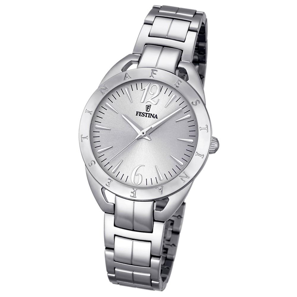 Festina Damen-Armbanduhr Mademoiselle analog Quarz Edelstahl silber UF16932/1