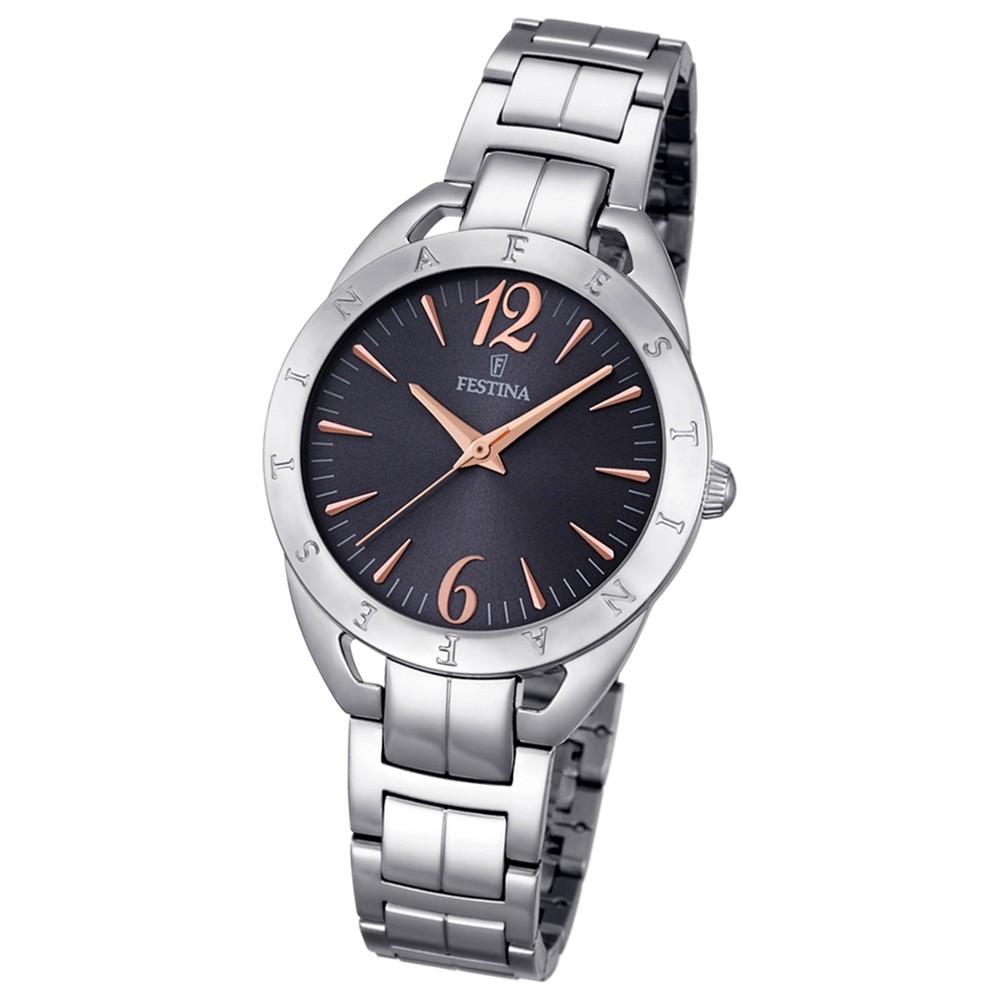 Festina Damen-Armbanduhr Mademoiselle analog Quarz Edelstahl silber UF16932/2