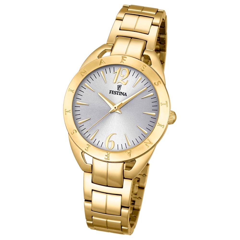 Festina Damen-Armbanduhr Mademoiselle analog Quarz Edelstahl gold UF16934/1