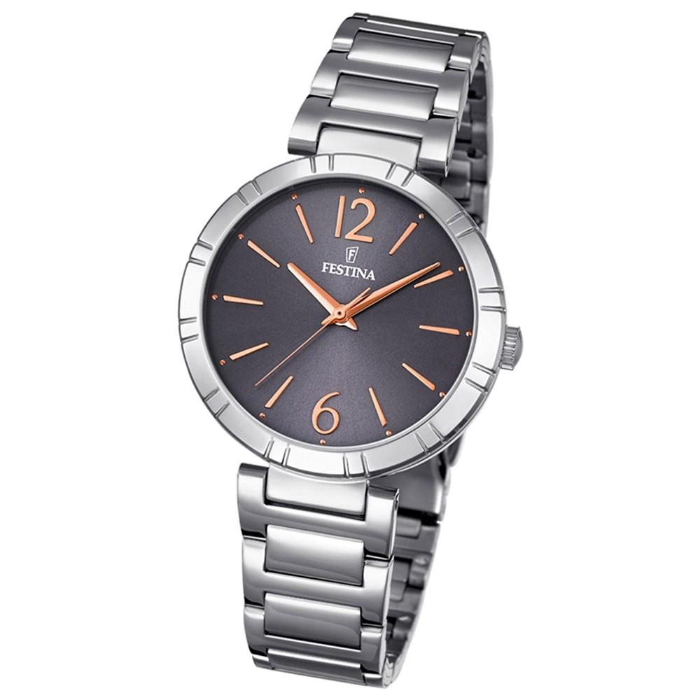 Festina Damen-Armbanduhr Mademoiselle analog Quarz Edelstahl silber UF16936/2